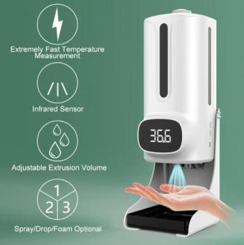 Máy đo thân nhiệt tự động phun khử khuẩn K9 Pro New